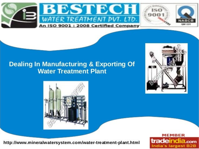 http://www.mineralwatersystem.com/water-treatment-plant.html Dealing In Manufacturing & Exporting Of Water Treatment Plant