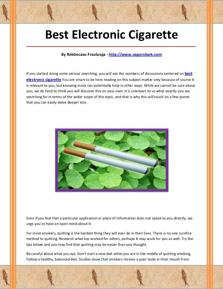 Best Electronic Cigarette_____________________________________________________________________________________            ...