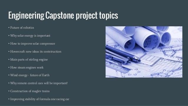 Best Engineering Capstone Project Topics