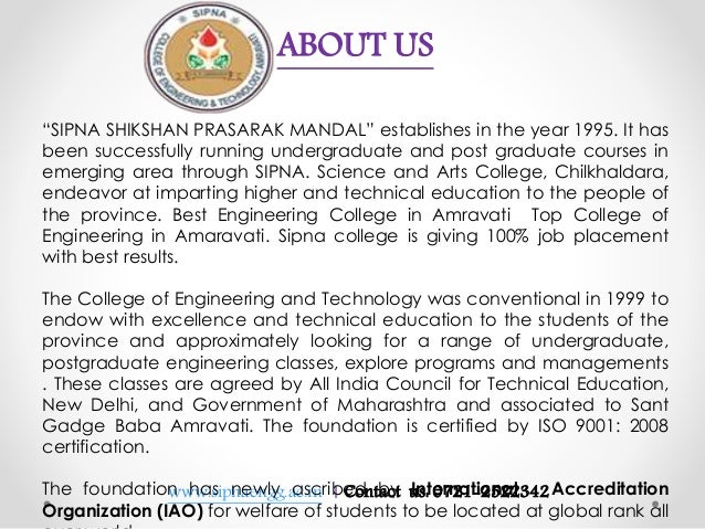 """www.sipnaengg.ac.in 