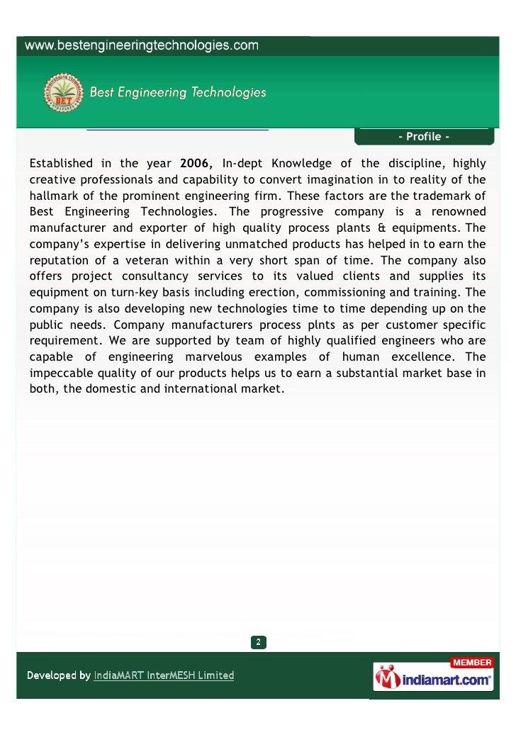 Best Engineering Technologies, Hyderabad, Herbal, Aromatic, Bio-diesel Slide 2