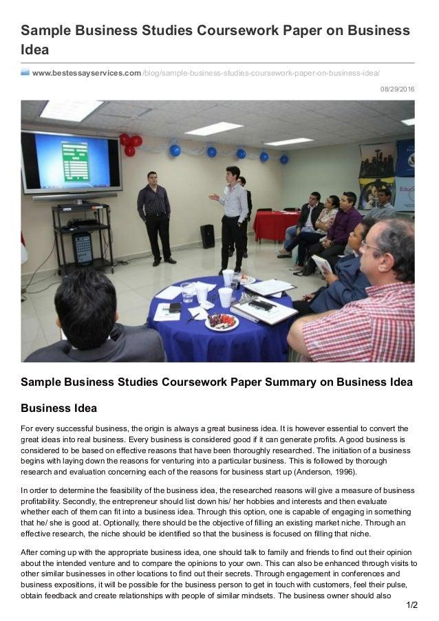 Bestessayservices com: Sample Business Studies Coursework