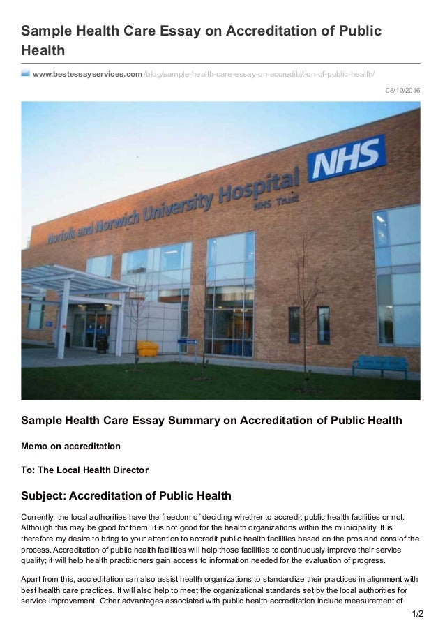 Essays service improvement nhs