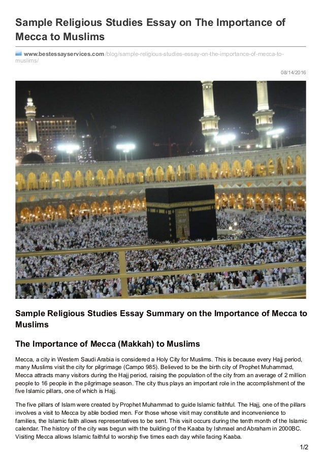 the islamic religion essay Christianity and islam religion essay muhammad who is the founder of the islamic religion is believed to be the last prophet of god allah.