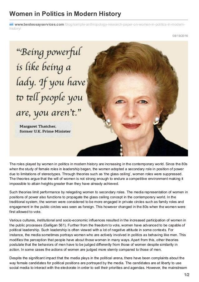 Essay on women in politics