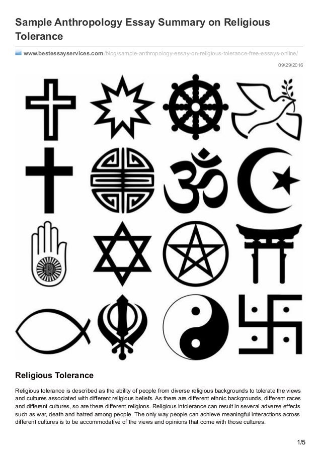 bestessayservices com sample anthropology essay on religious toleran  09 29 2016 sample anthropology essay summary on religious tolerance bestessayservices