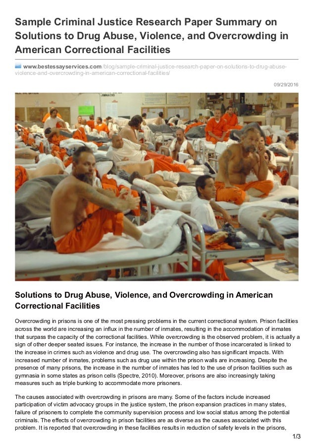 overcrowding in prisons essay