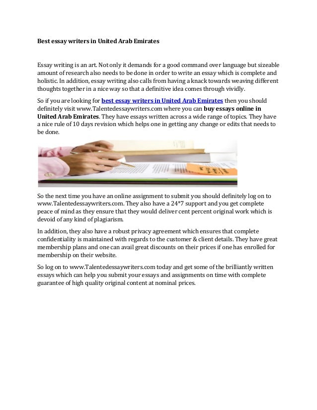 Best Essay Writers In United Arab Emirates Best Essay Writers In United Arab Emirates Essay Writing Is An Art Not  Only It Persuasive Essay Papers also Analytical Essay Thesis Example  Help Writing Up A Business Plan