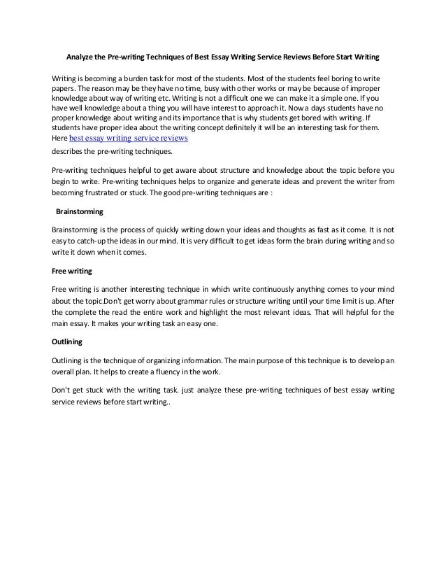 Starting A Business Essay Analyze The Prewriting Techniques Of Best Essay Writing Service Reviews  Before Start Writing Writing Essay On Health Promotion also High School Admission Essay Samples Analyze The Prewriting Techniques Of Best Essay Writing Service Revi How To Write An Essay Thesis