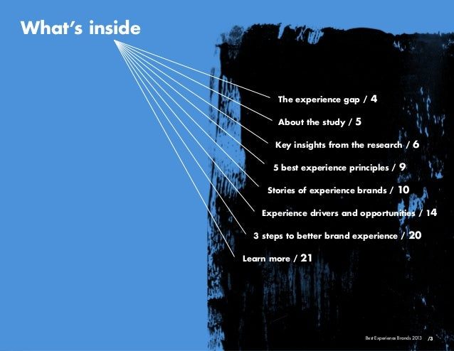 The experience gap / 4About the study / 5Key insights from the research / 65 best experience prin...