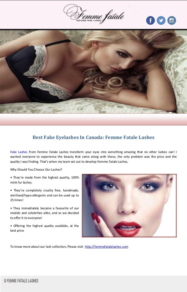 Best Fake Eyelashes In Canada Femme Fatale Lashes