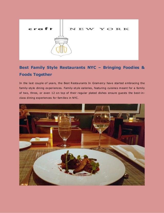 Best Family Style Restaurants Nyc
