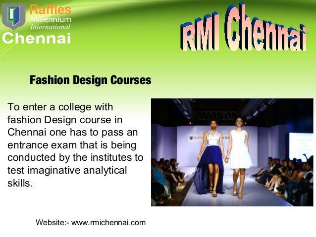 Best Fashion Designing College Institutes In Chennai
