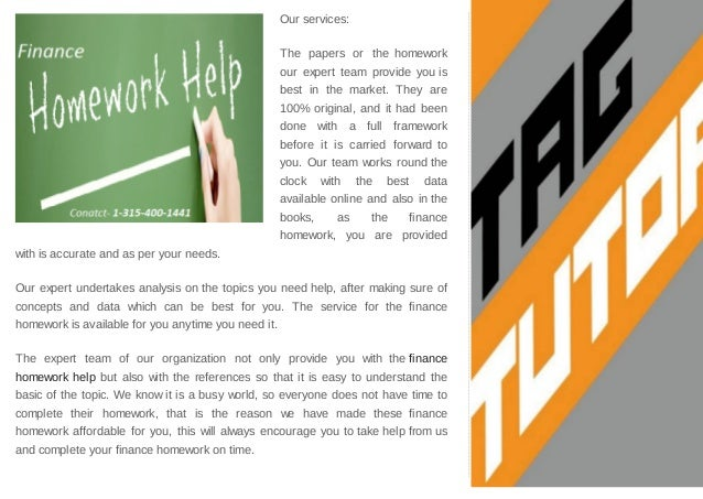 finance homework help online Asap tutor is homework help website for those who need help in learning accounting, managerial accounting, financial accounting, intermediate accounting, corporate finance, and statistics.