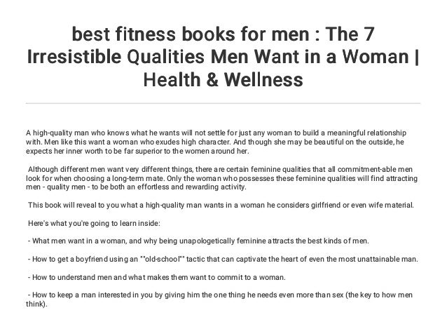 Best Fitness Books For Men The 7 Irresistible Qualities Men Want In