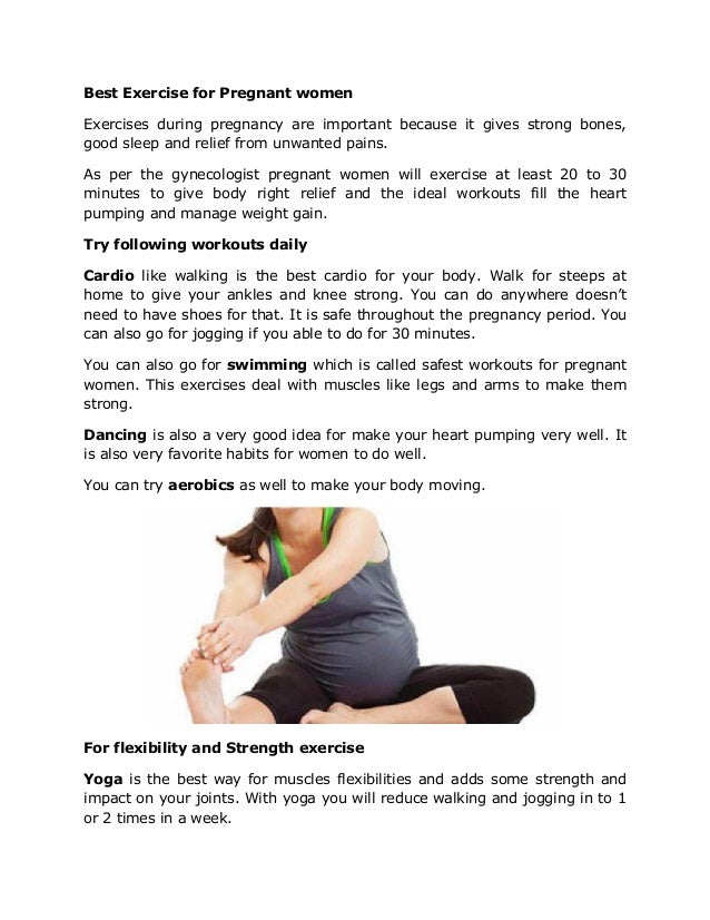 Exercise Programs For Pregnant Women