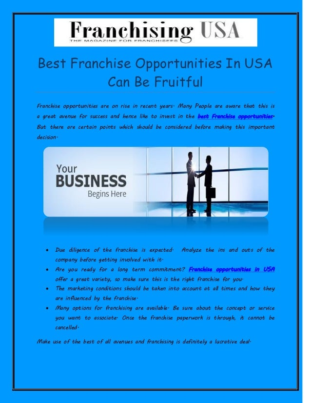 5 Best Things About Franchise Business