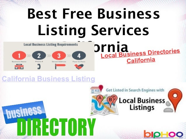 Best free business listing services California | California Business …