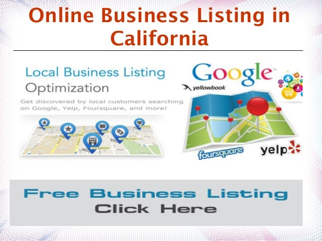 Best free business listing services california for California company directory