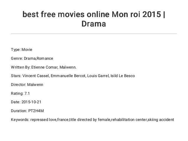 Watch Mon Roi 2015 Full Movie Online Free Download