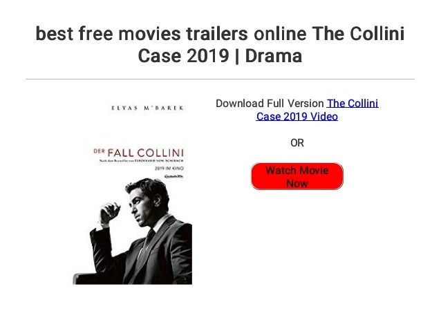 der fall collini trailer