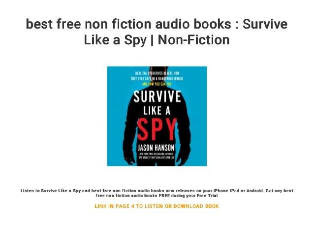 Best Free Non Fiction Audio Books Survive Like A Spy Non Fiction