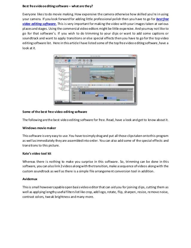best free and easy video editing software