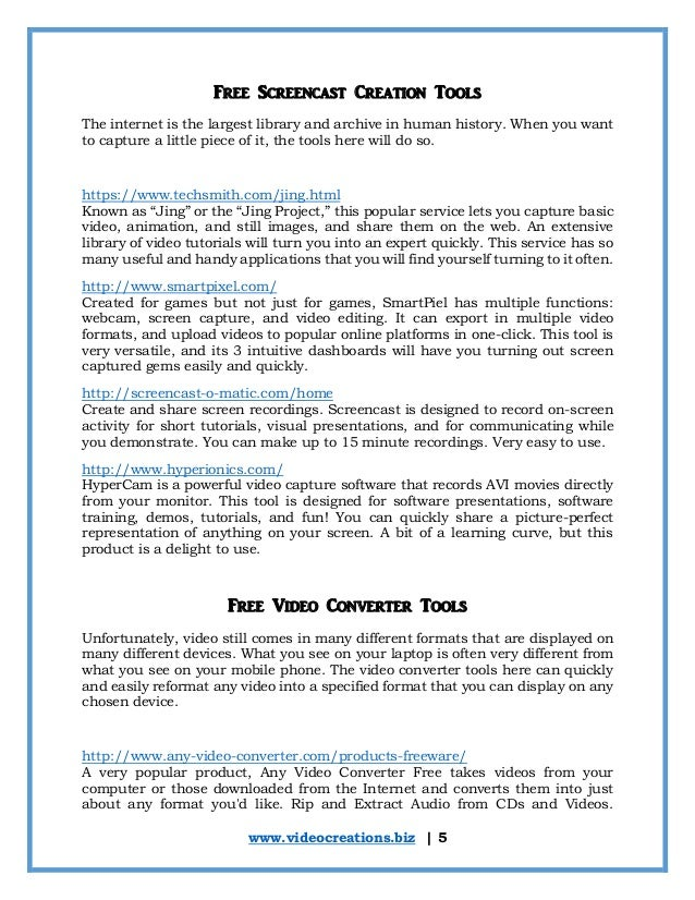 Best free video tools resource book 9 solutioingenieria Choice Image