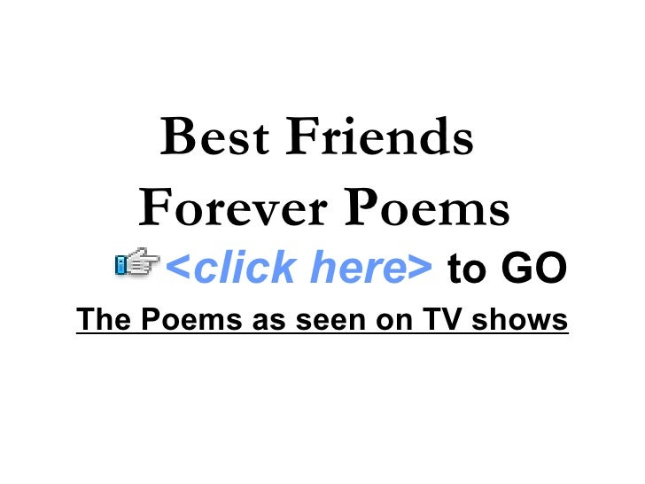 your my best friend forever poems - photo #9