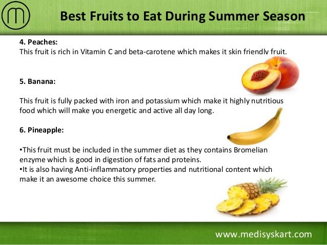 Best Fruits to Eat During Summer Season