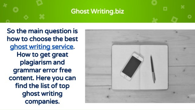 ghostwriter website