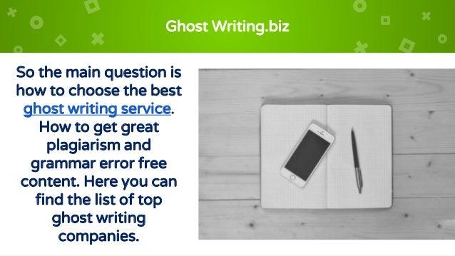 ghostwriting packages