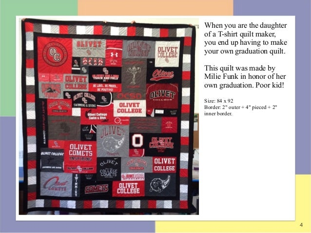 Best Graduation T-shirt Quilts of 2015 : t shirt quilt maker - Adamdwight.com