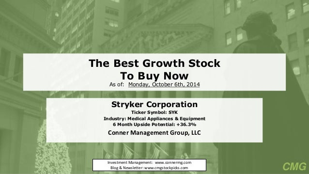 The Best Growth Stock To Buy Now, October 2014