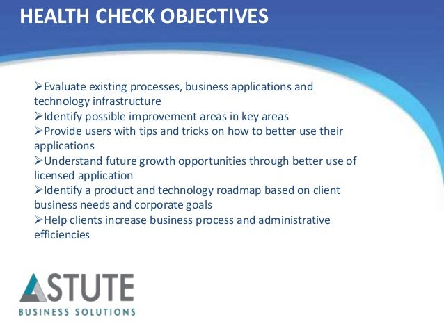 application health check best practices