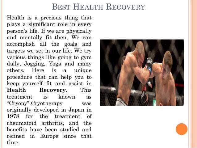 BEST HEALTH RECOVERY Health is a precious thing that plays a significant role in every person's life. If we are physically...