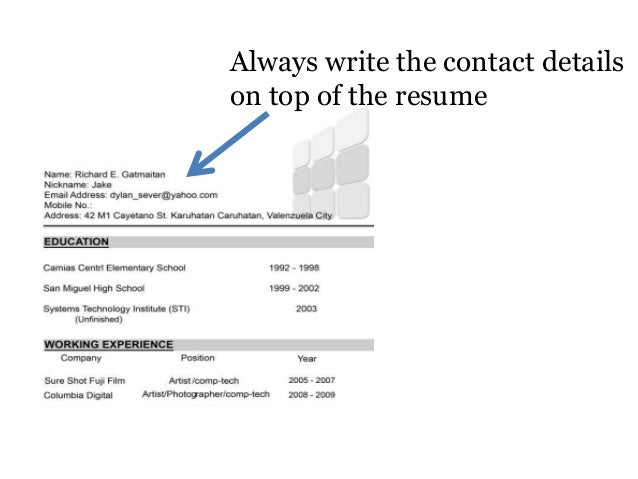 SlideShare  What To Put On A High School Resume