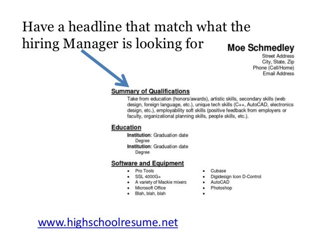 best high school resume tips you will read this year