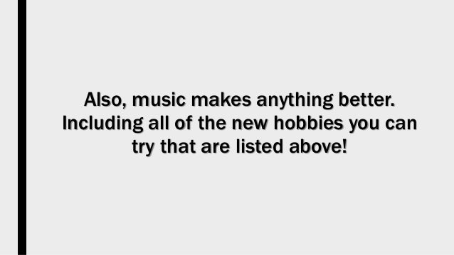 what are the best hobbies