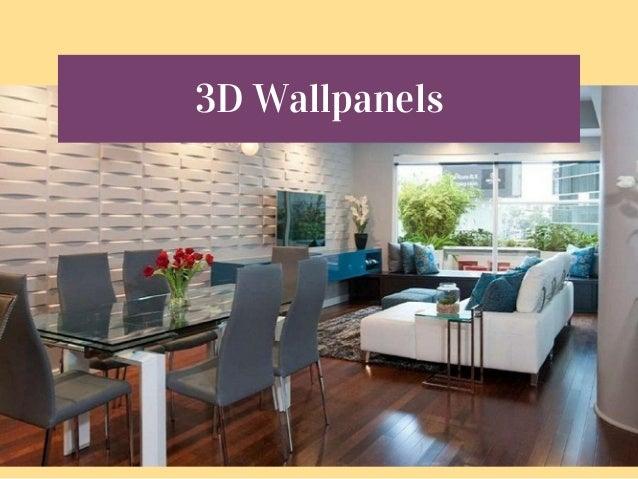 Best Home Decor Store. 1. Chuvie Decor O N L I N E H O M E D E C O R S T O  R E; 2. 3D Wallpanels; 3.