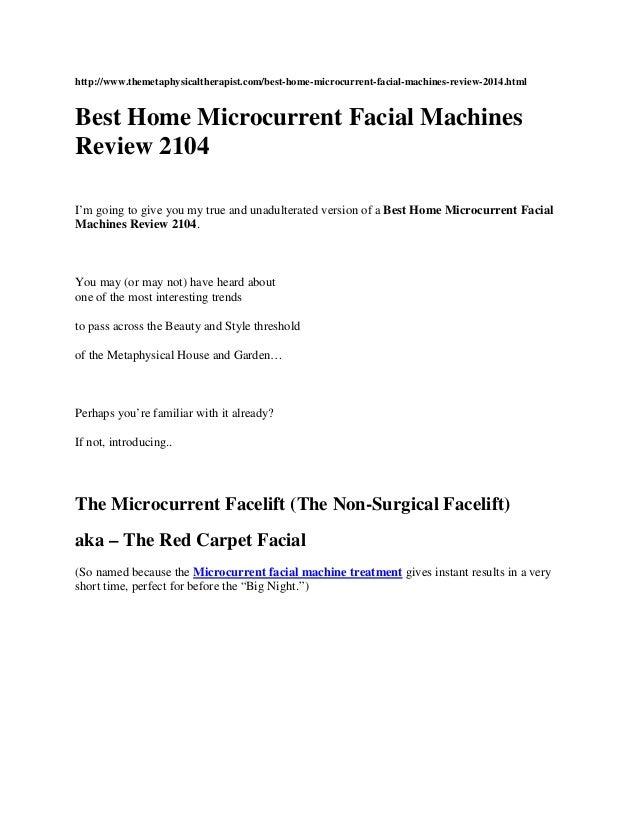 microcurrent machine reviews