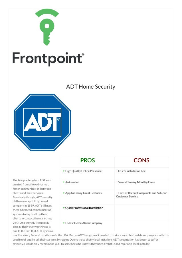 Best Home Security Systems Comparison