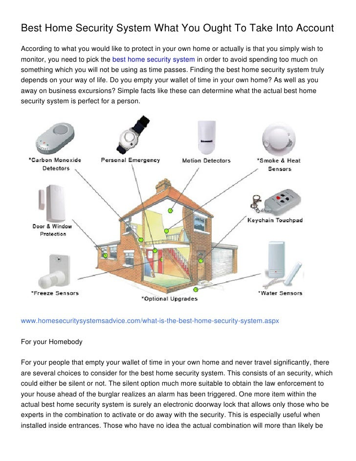 Best Home Security System What You Ought To Take Into Account