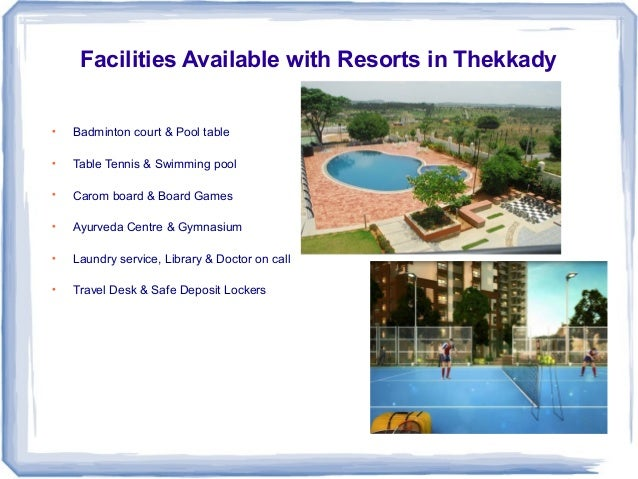 Holiday in resorts notable places and best resort facilities availa for Resorts in kodaikanal with swimming pool