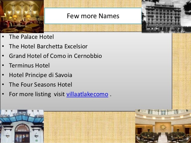 Luxury Hotels In Lake Como Italy Area Top Hotels In Lake Como Italy