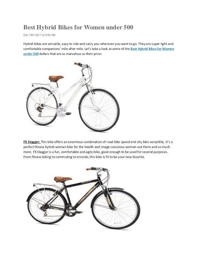 Best Hybrid Bikes for Women under 500