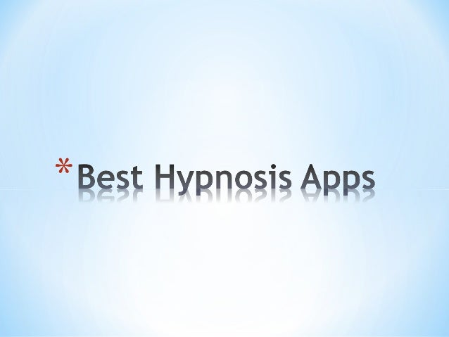 self hypnosis applications