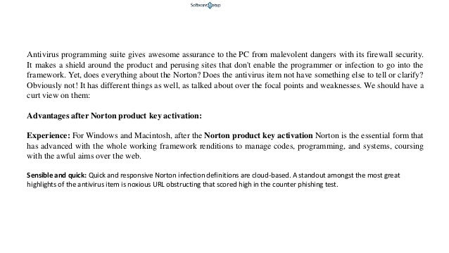 norton product key activation