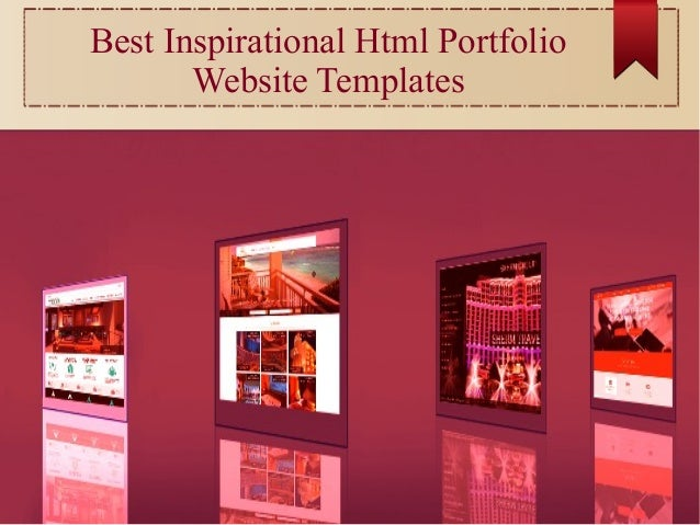 Best inspirational html business portfolio website templates