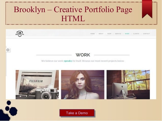 Best inspirational html business portfolio website templates brooklyn creative portfolio page html take a demotake a demo 16 wajeb Images